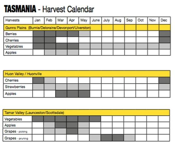 3_Erntekalender Australien_Tasmania