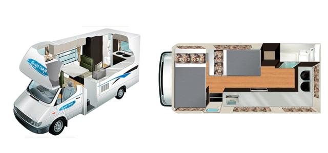 wohnmobil modelle 4-sitzer