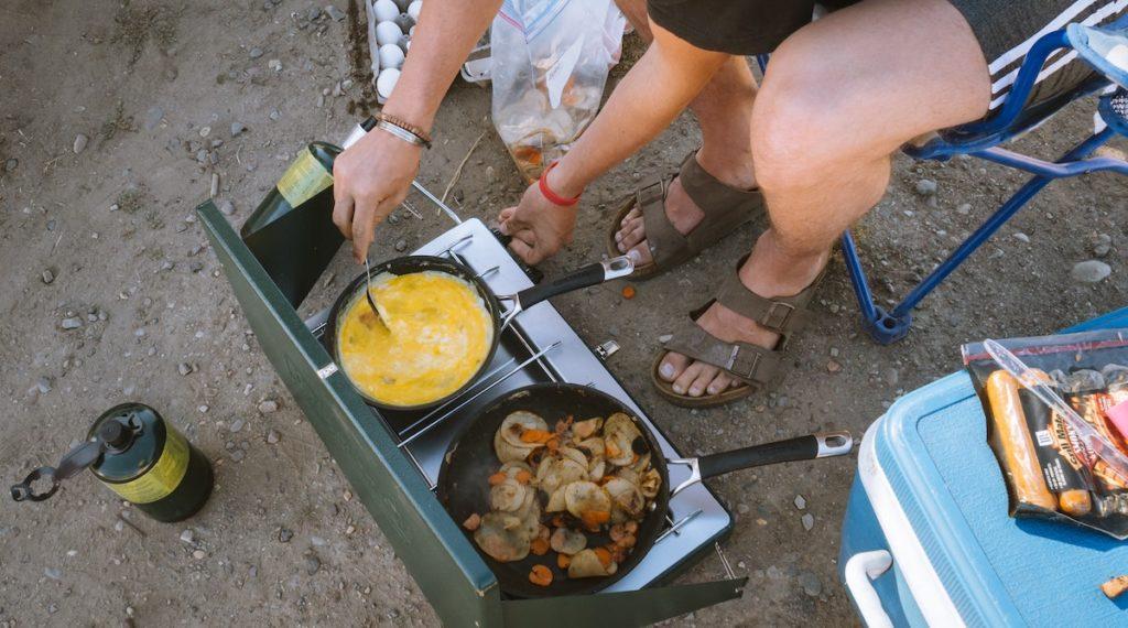 Rühreier camping gericht